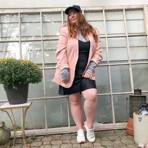 Vintage 80s Pink Wool Oversized Blazer Jacket